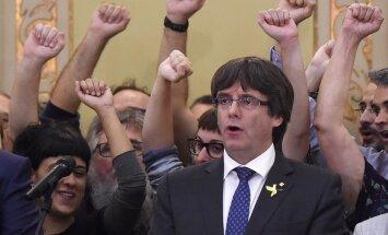 Katalonijas premjers aicina katalāņus 'demokrātiski pretoties' Madrides varai