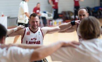 Latvijas ratiņbasketbolisti EČ B divīzijas turnīru noslēdz astotajā vietā