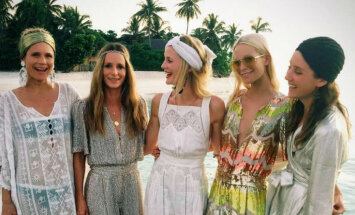 Privāti foto: Dzīves svinēšana supermodeles ballītē uz privātas salas