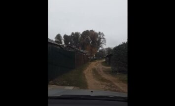 ВИДЕО: Первый снег в Даугавпилсе