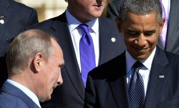 Obama Putinam pauž satraukumu par Krievijas atbalstu bandām Ukrainas austrumos