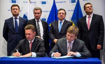 ES, Krievija un Ukraina noslēgušas vienošanos par gāzes piegādēm
