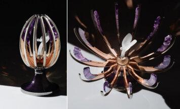 Radīta Faberžē ola ar 'Rolls-Royce' Ekstāzes gara figūru tajā