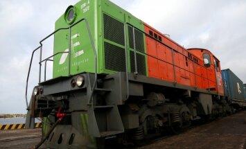 ФОТО: В Риге торжественно встретили контейнерный поезд из Китая