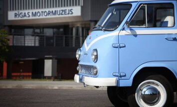 Svētdien Motormuzejā ieradīsies RAF 'Latvija' mikroautobusu brauciens