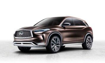 'Infiniti' nākamā 'QX50' prototips un jauns benzīna dzinējs