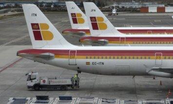 Spānijas aviokompānijas 'Iberia' darbinieki beidz piecu dienu streiku