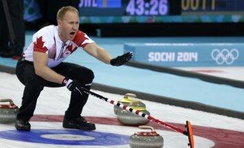 Kanādas un Zviedrijas kērlingisti nodrošina vietu Olimpiādes pusfinālā