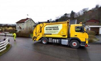 Video: 'Volvo' izstrādājis pašbraucošu atkritumu savākšanas mašīnu