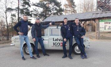 Futbols ar žiguļiem un policijas eskorts: rallija Taškenta-Rīga spilgtāko mirkļu dienasgrāmata