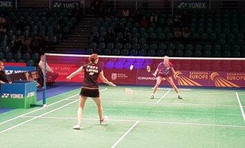 Badmintoniste Pope Eiropas čempionātā piekāpjas vienai no mājinieku favorītēm