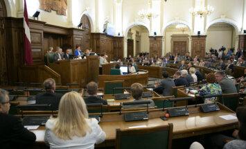 59 pašreizējie deputāti pārvēlēti jaunajā Saeimā