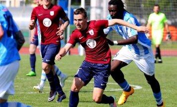 'Jelgavas' futbolisti pakāpjas uz trešo vietu Latvijas virslīgā