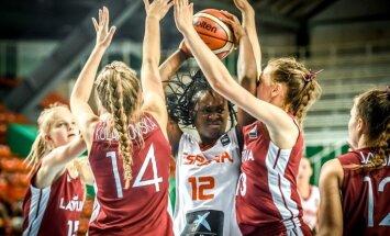 Latvijas U-16 meiteņu basketbola izlase Eiropas čempionātu sāk ar zaudējumu Spānijai
