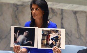 ASV brīdina par vienpusēju reakciju uz ķīmisko uzbrukumu Sīrijā