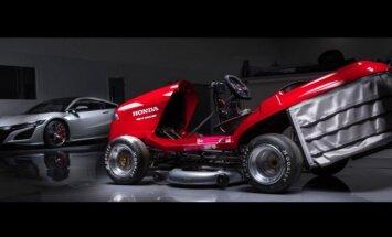 'Honda' pasaulē visātrāko zālespļāvēju padarīs vēl ātrāku