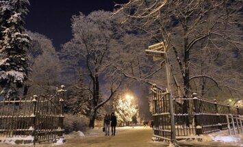 Rīgā izveidojusies piecus centimetrus bieza sniega sega