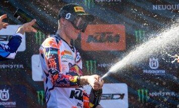 Jonass izcīna trešo vietu PČ posmā Šveicē un vēl vairāk pietuvojas titulam