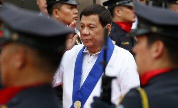 Starptautiskā Krimināltiesa pārbaudīs sūdzības par Dutertes 'noziegumiem pret cilvēci'