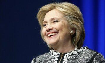 Klintones pārsvars pār Trampu sasniedzis astoņus procentpunktus