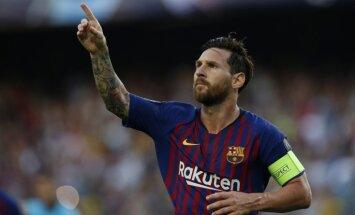 UEFA Čempionu līgas grupu turnīrs iesākas ar Mesi 'hat-trick' un 'Barcelona' uzvaru