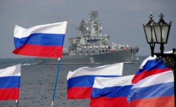 Latvijas robežas tuvumā konstatēts Krievijas armijas kuģis