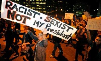 Portlendā pret Trampu vērstie protesti pāraug nemieros