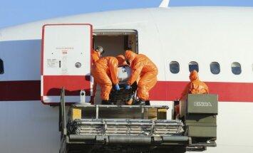 Ebolas vīrusa aizdomu dēļ Kopenhāgenā aizturēta SAS lidmašīna