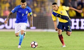 Video: Brazīlija pēc strīdīga tiesnešu lēmuma 'Copa America' mačā izglābjas no zaudējuma Ekvadorai