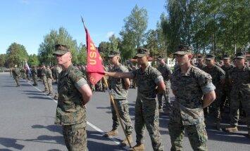 Foto: Ādažos atklātas starptautiskās militārās mācības 'Saber Strike 2017'