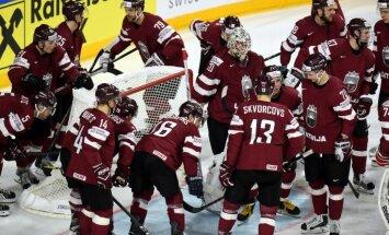 Latvijas hokeja izlase jaunākajā IIHF rangā zaudējusi vienu vietu