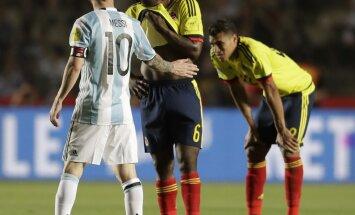 Argentina Lionel Messi, Colombia Carlos Sanchez