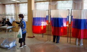 Krievijas gubernatoru vēlēšanās uzvar Putina partija