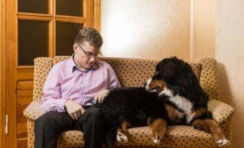 Bernes ganu suns Kleopatra mācīsies būt palīgs un draugs Robertam, puisim ar īpašām vajadzībām