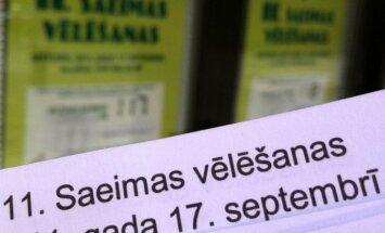 Iedzīvotāji uzskata, ka Saeimas ārkārtas vēlēšanas Latvijas politisko vidi nav mainījušas