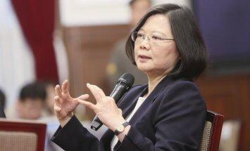 Neskatoties uz Ķīnas iebildumiem, Taivānas prezidente ieradusies Havaju salās