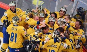 Zviedrija noņem 'mājinieku lāstu' un izcīna devīto PČ zeltu
