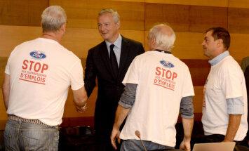 'Ford' iecere Francijā slēgt rūpnīcu izraisa valsts amatpersonu neapmierinātību