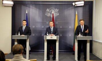Baltijas valstu premjeri parakstījuši vienošanos par vienota gāzes tirgus attīstīšanu