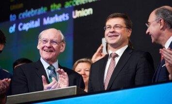 Foto: EK viceprezidents Dombrovskis Londonā sludina sadarbību arī pēc 'Brexit'