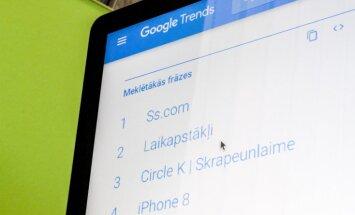 Noskaidroti 'Google' meklētākie vārdi Latvijā šogad