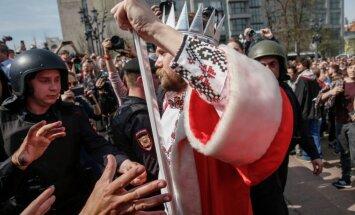 Foto: Pret Putinu vērstajos protestos Krievijā aizturēti vairāk nekā 1600 cilvēku