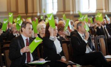'Vienotība' ārkārtas kongresā pārvēlēs partijas vadību