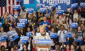 Klintone un Tramps gūst uzvaras ASV priekšvēlēšanās vairākos štatos