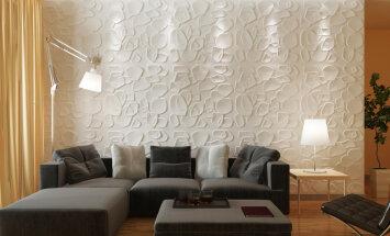 Inovatīva tendence iekštelpām – 3D sienu paneļi