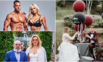 Gads mīlas zīmē: slaveno latviešu kāzas, jaunie pārīši un brēkuļi