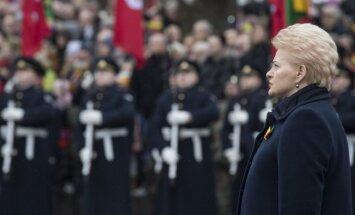 Grībauskaite Lietuvas simtgadē pateicas par atbalstu sabiedrotajiem