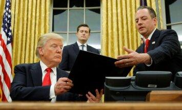 Tramps paraksta dekrētu pret 'Obamacare'