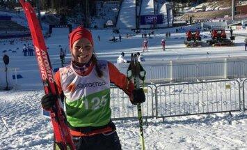 Slēpotājai Eidukai jauns FIS punktu rekords arī 5 km distancē