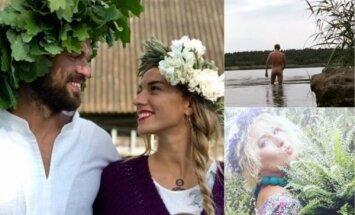 Foto: Kā slavenie latvieši daudzināja Līgo svētkus